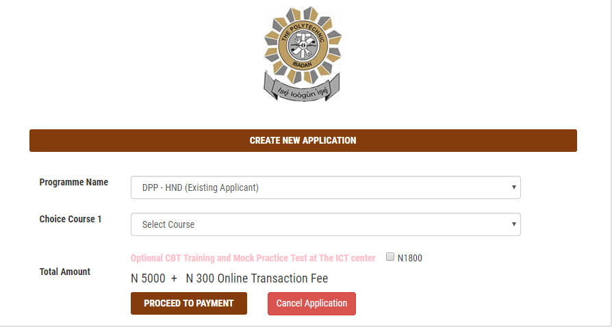 HND DPP- Existing Applicant: #5,300 (Bank Charges Included)