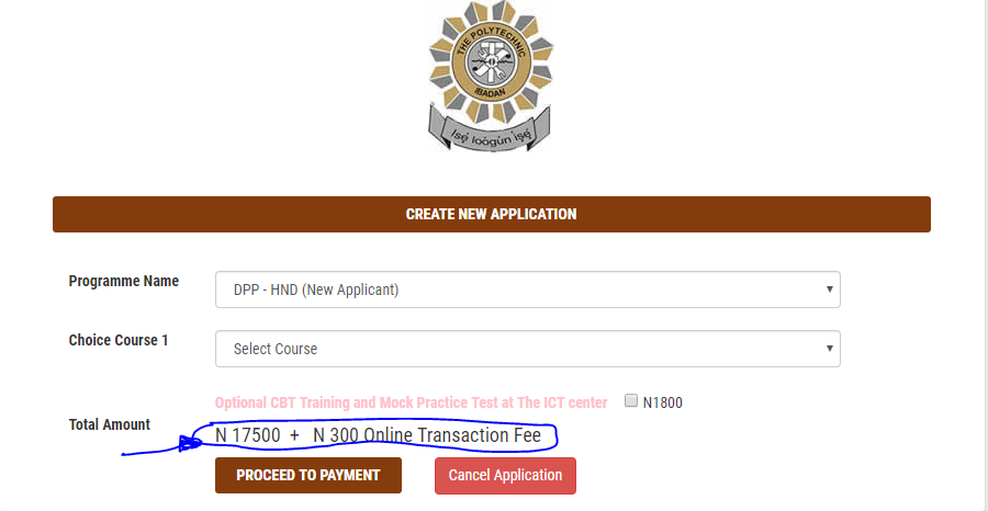HND DPP- New Applicant: #17,800 (Bank Charges Included)