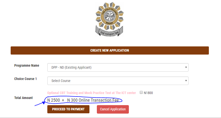 ND DPP- Existing Applicant: #2,800 (Bank Charges Included)