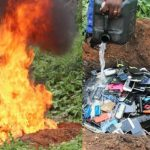 PolyIBADAN Sets Phones Seized During Examination On Fire